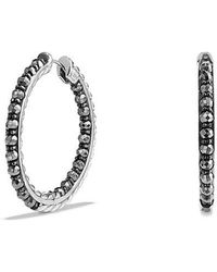 David Yurman - Osetra Hoop Earrings With Hematine - Lyst
