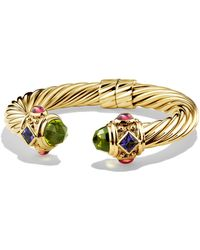 David Yurman - Renaissance Bracelet With Peridot And Tanzanite In 18k Gold, 10mm - Lyst