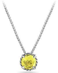 David Yurman - Châtelaine® Pendant Necklace With Lemon Citrine - Lyst