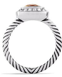 David Yurman - Petite Albion® Ring With Citrine And Diamonds - Lyst