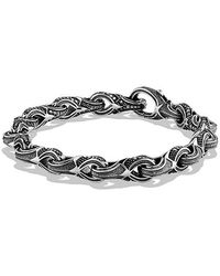 David Yurman | Armory Figure-eight Link Bracelet With Black Diamonds, 9.5mm | Lyst