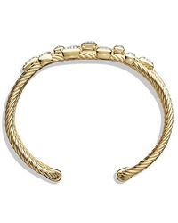 David Yurman | Confetti Narrow Cuff Bracelet With Diamonds In 18k Gold, 16mm | Lyst