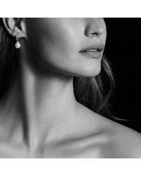 David Yurman - Solari Hoop Earrings With Diamonds And Peach Moonstone In 18k Gold - Lyst