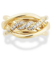 David Yurman - Continuance Ring With Diamonds In 18k Gold, 11.5mm - Lyst