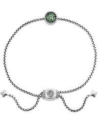 David Yurman - Petite Pave Bracelet With Tsavorite - Lyst