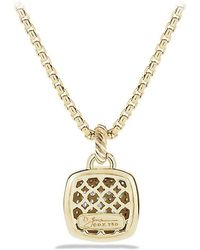 David Yurman - Albion Pendant With Diamonds In 18k Gold, 14mm - Lyst