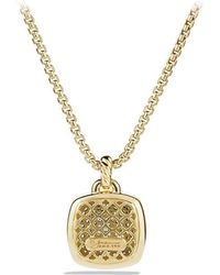 David Yurman - Albion® Pendant With Diamonds In 18k Gold, 17mm - Lyst