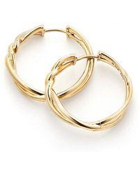 David Yurman - Continuance® Hoop Earrings In 18k Gold - Lyst