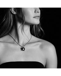 David Yurman | Châtelaine Pendant With Green Orchid And Diamonds, 20mm | Lyst