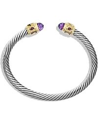 David Yurman - Renaissance Bracelet With Amethyst, Pink Tourmaline, Rhodalite Garnet And 14k Gold, 5mm - Lyst