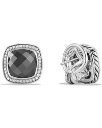 David Yurman - Albion® Earrings With Hematine And Diamonds, 11mm - Lyst