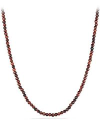 David Yurman - Spiritual Bead Necklace With Red Tiger's Eye - Lyst