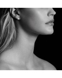 David Yurman - Petite Pave Heart Earrings With Pink Sapphire - Lyst