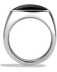 David Yurman - Exotic Stone Signet Ring With Black Onyx - Lyst