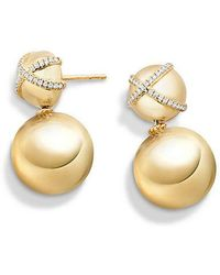 David Yurman - Solari Double Drop Earrings With Diamonds In 18k Gold - Lyst