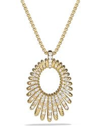 David Yurman - Tempo Pendant Necklace With Diamonds In 18k Gold - Lyst
