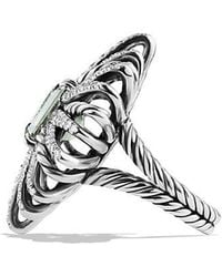 David Yurman - Starburst Ring With Prasiolite And Diamonds - Lyst