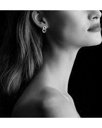 david yurman belmont extrasmall curb link drop earrings with diamonds in 18k rose