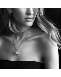 David Yurman | Crossover Pearl Pendant Necklace With Diamonds In 18k Gold | Lyst