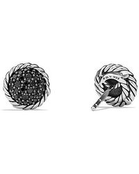 David Yurman | Petite Pave Earrings With Black Diamonds | Lyst