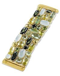 David Yurman - Châtelaine Five-row Bracelet With Lemon Citrine, Green Tourmaline, And Demantoid Garnets In 18k Gold - Lyst