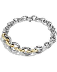 David Yurman | Medium Oval Chain Necklace With 14k Gold | Lyst