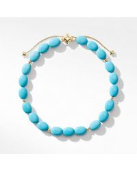 David Yurman - Spiritual Bead Bracelet With Turquoise And 18k Gold - Lyst