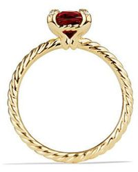 David Yurman - Chatelaine Ring With Garnet And Diamonds In 18k Gold, 7mm - Lyst