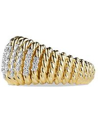 David Yurman | Tempo Ring With Diamonds In 18k Gold | Lyst