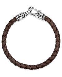 David Yurman | Chevron Woven Leather Bracelet In Brown, 6mm | Lyst