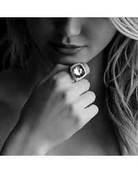 David Yurman - Albion® Ring With Black Onyx And Diamonds, 17mm - Lyst