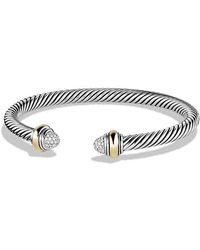 David Yurman - Cable Classics Bracelet With Diamonds And 14k Gold, 5mm - Lyst