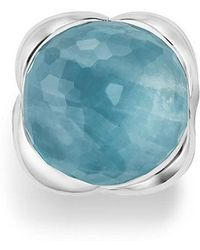 David Yurman - Continuance® Ring With Milky Aquamarine, 20mm - Lyst