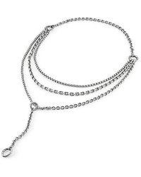 David Yurman - Mixed Chain Y Necklace - Lyst