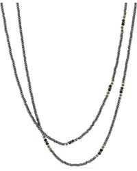 David Yurman - Cable Berries Tweejoux Necklace With Hematine, Black Onyx And 18k Gold - Lyst