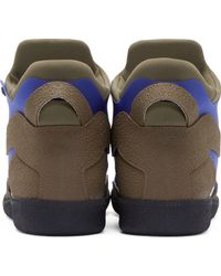 Maison Margiela Blue And Olive Scuba High_Top Sneakers - Lyst