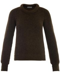 Lemaire Ribbed-Knit Wool-Blend Sweater - Lyst