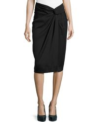 Donna Karan New York Sarong Knot Draped Skirt - Lyst