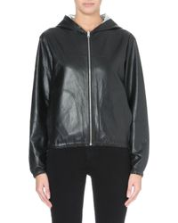 Maje Bisou Reversible Leather Jacket - For Women - Lyst