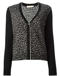 Tory Burch Black Spotted Cardigan - Lyst