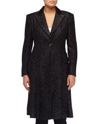 Donna Karan New York Slim Textured Flirty Coat - Lyst