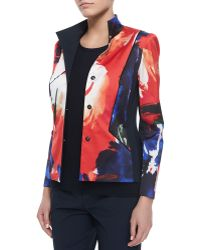 Lafayette 148 New York Laryn Floral-Print Jacket - Lyst