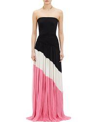 J. Mendel Chiffon Pleated Gown - Lyst