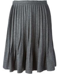 Sonia By Sonia Rykiel Pleated A-line Skirt - Lyst