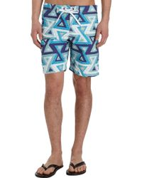 Bantu - Triangle Print Boardshorts - Lyst