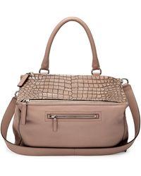 Givenchy Pandora Croc-stamped Medium Satchel Bag - Lyst