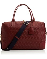Liberty - Oxblood Iphis Leather Regent Weekend Bag - Lyst