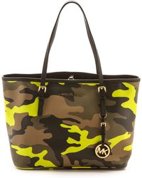 Michael by Michael Kors Printed Small Travel Tote  Acid Lemon - Lyst