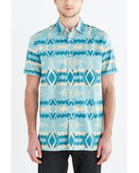 Pendleton Sunset Print Button-Down Shirt blue - Lyst