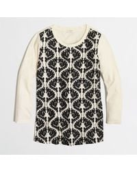 J.Crew Factory Embroideredfront Top - Lyst